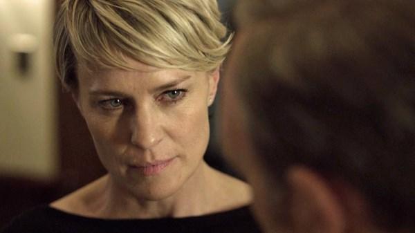 Robin Wright è Claire Underwood (fonte: youtube.com)